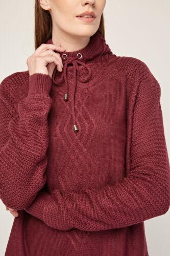 alto collo pullover a invernale maglione Maglione donna da magenta OPB1nnqIw
