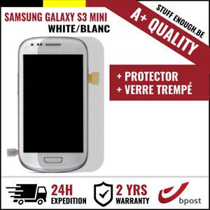A+ LCD SCREEN/SCHERM/ÉCRAN WHITE + SCREEN GUARD FOR SAMSUNG GALAXY S3 MINI