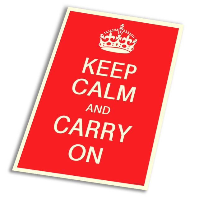 Union Jack poster   A2 SIZE Keep Calm and Carry On