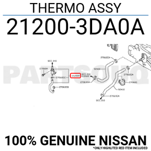 276742S400 Genuine Nissan SWITCH ASSY-THERMO 27674-2S400