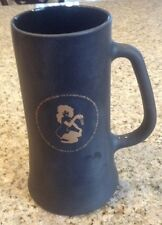 Vintage ORIGINAL Playboy Club Black Frosted Glass Beer Mug Stein Gold lettering