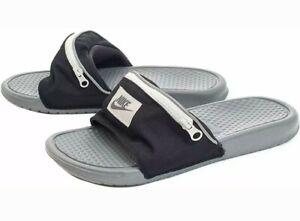 Details about NIKE Men's $55 BENASSI JDI FANNY PACK Slides Sandals AO1037  001 Black Size M 7