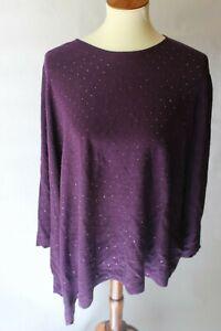 Anne-Klein-Asymmetrical-Studded-Sweater-Phoenix-Purple-Women-039-s-XL-New-119