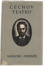 Anton Cechov TEATRO Sansoni 1950 Carlo Grabher Completo Letteratura Russa