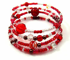 47aac03d0d284 Memory Wire Bracelet Jewellery Making Kit Red With Instructions K0038