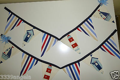 1M BUNTING FLAGS PARTY SEASIDE NAUTICAL LIGHTHOUSE BOAT BOYS BEACH HUTS STRIPE