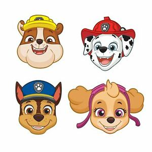 Details about 8 Pack PAW Patrol Kids Birthday Party Masks Rubble Chase Skye  Marshall