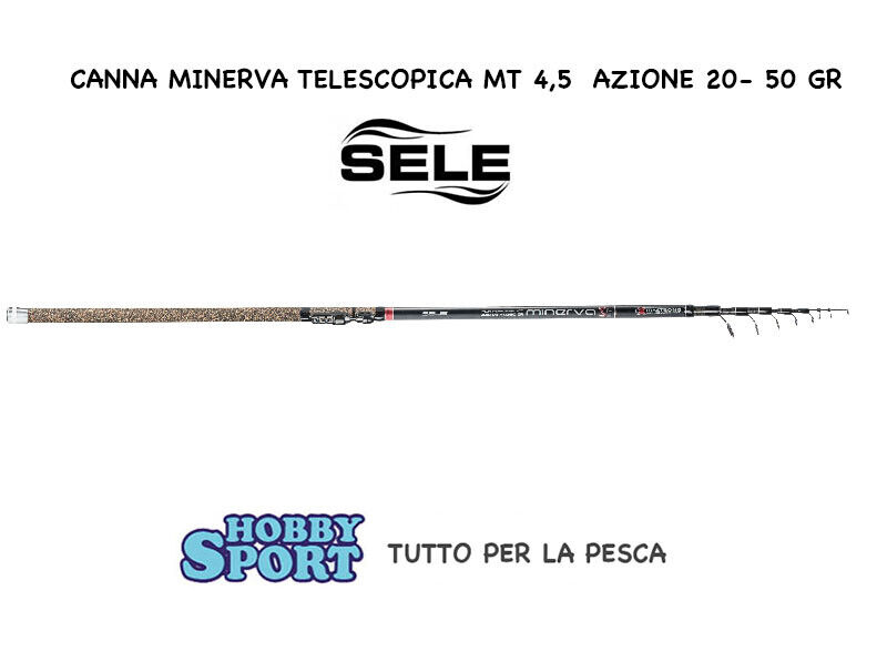 CANNA SELE MINERVA S5 4,50 MT CASTING   2050 GR INGLESE TELESCOPICA