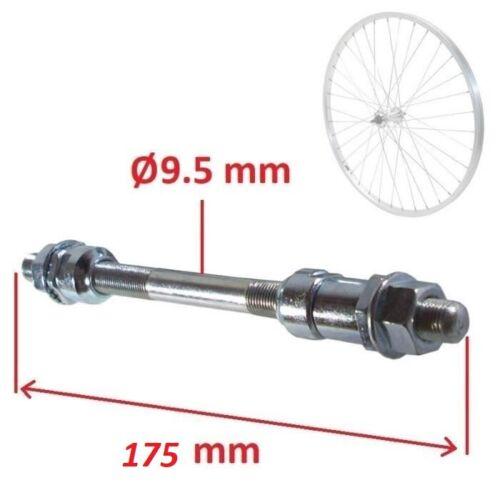 Fahrrad HINTERRADACHSE 9.5mm x 175 mm Achse VOLL NABEN HINTERRAD NABEL RAD
