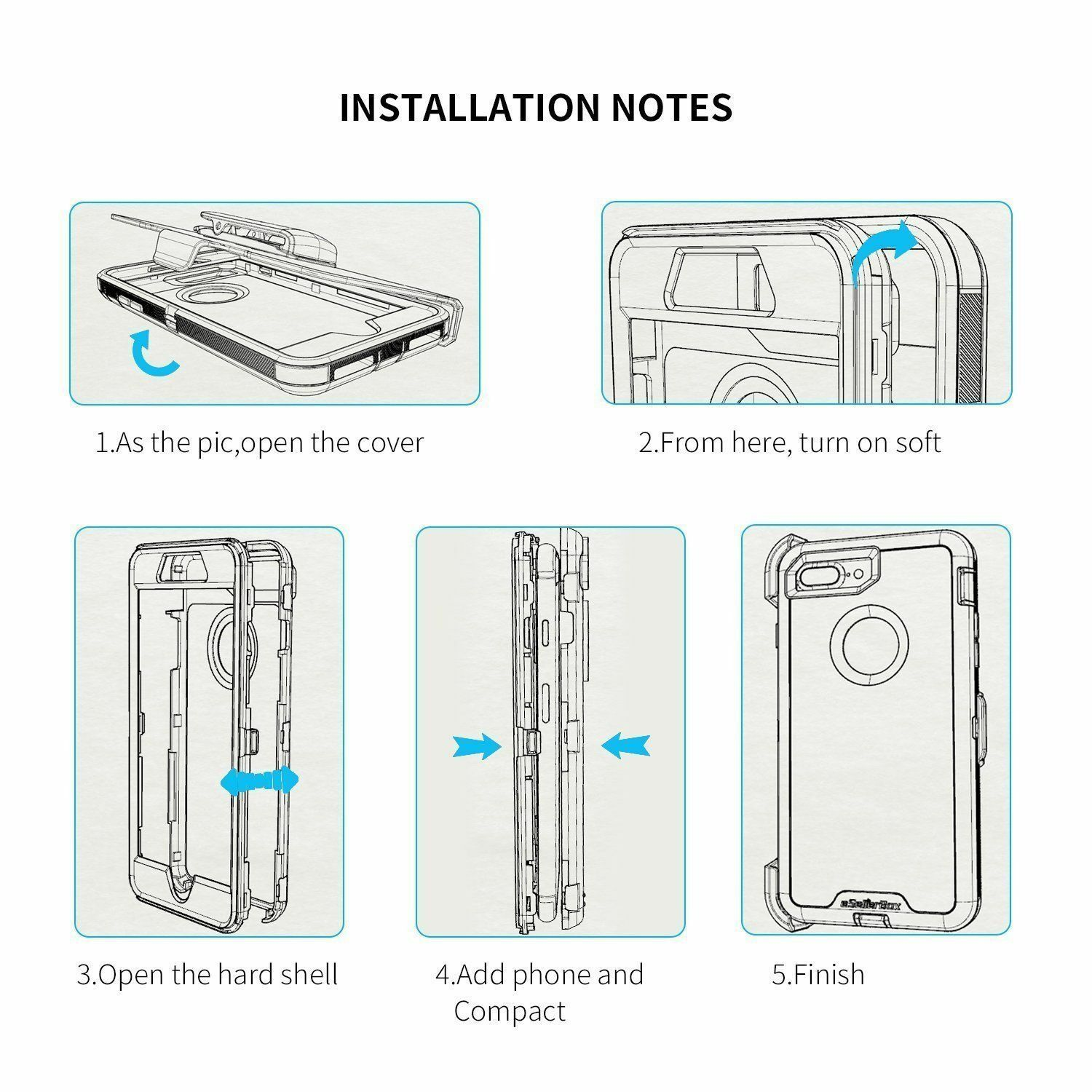 For iPhone 6s 7 8 Plus XS max XR Case Belt Clip Holster fits Otterbox Defender 4