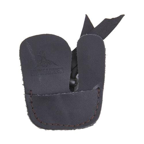 Protective Finger Tab Shooting Archery Glove Black O8I0