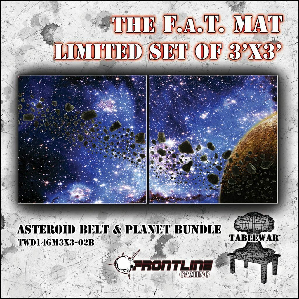 3x3' F.A.T Tapis ASTEROID PLANET Brand New abugames