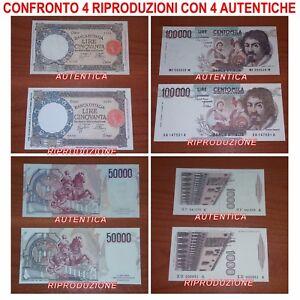 4-RIPRODUZIONI-100-000-CARAVAGGIO-50-000-BERNINI-1-000-POLO-50-LUPA-LIRE-FDS