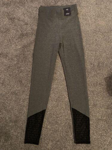 gris avec dentelle noire régulier 6 Neuf M /& S Taille Haute Leggings Avec Stretch
