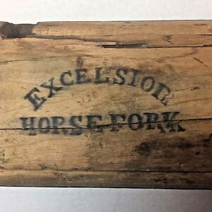 Heavy Equipment, Parts & Attachments Palmer Patented Excelsior Horse Fork Wood 1868 Antique Farm Equipment Albany Ny Convenient To Cook