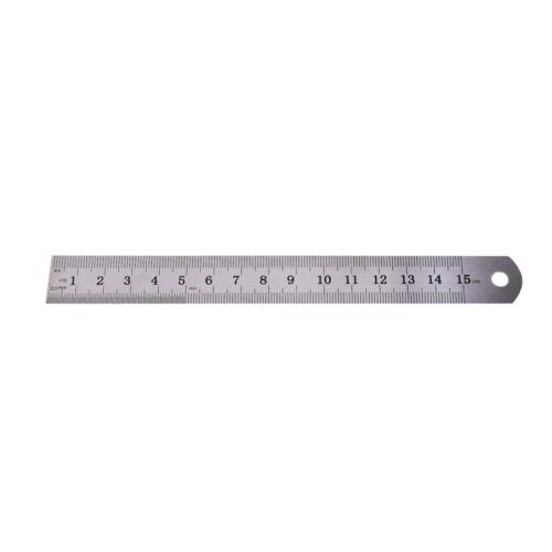 1PC Metric Rule Precision Double Sided Measuring Tool  15cm Metal Ruler ES