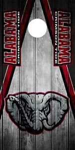 SINGLE Alabama Crimson Tide Cornhole Wrap Skin Decal Vinyl NCAA Mascot NK12