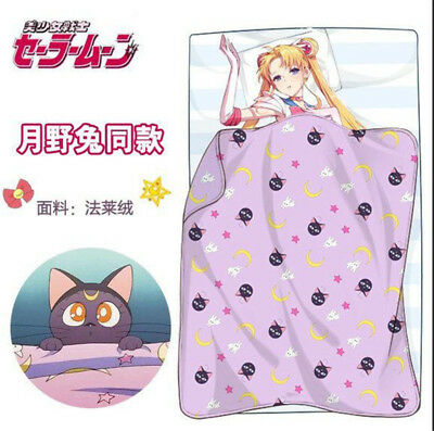 "Blanket Cute Sailor Moon 20Th Anniversary Tsukino Usagi Cosplay Bedsheet 79/""X59/"""