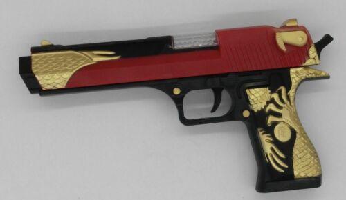 Eagle Oro Nero Pistola giocattolo sembra vera pistola con la luce effetti sonori per bambini