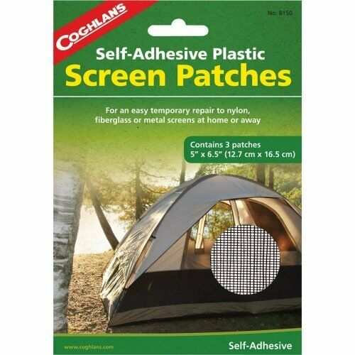 tents Coghlans Self Adhesive Plastic Screen Patches 3