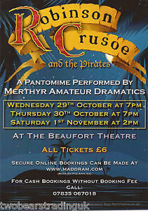 image is loading event promo flyer robinson crusoe amp pirates beaufort