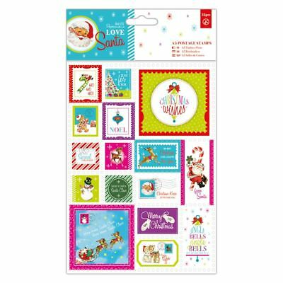 Do-crafts A5 Postage Stamps 32pcs Love Santa for cards and crafts