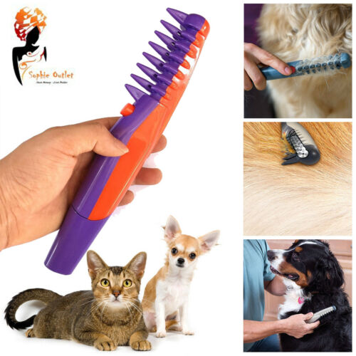 Pet Grooming Comb Ultimate Knot Out Electric Flea Dog Pet Hair Trimmer Tangle