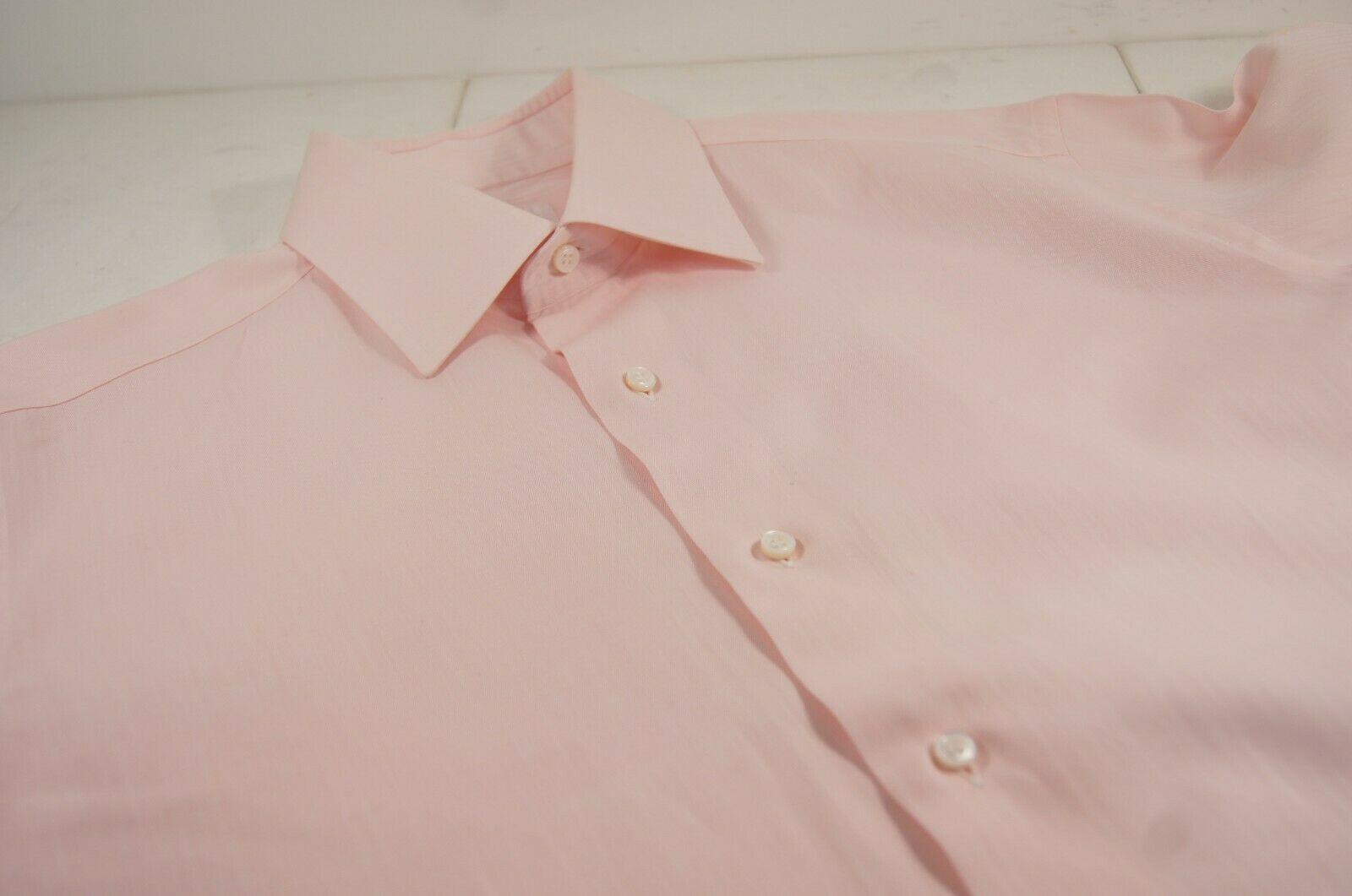 Brioni Pink French Cuff Dress Shirt Mint Condition size 16   41 - SL 34  -35