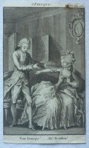 Kupferstich-vor-1840-Eunuch-Vous-Eunuque-ca-8-5-x-14-cm-Wanduhr-Mode-Erotica