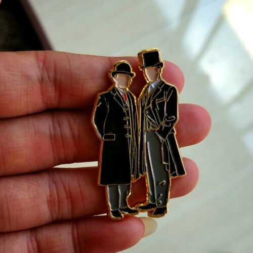 Shelock Holme Shylock John Metal Badge Brooch Pin Strap Gift Rare Limit N