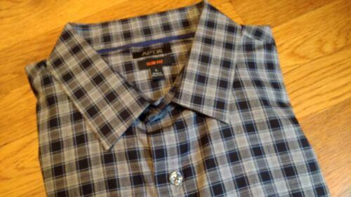 Mens Apt MSRP NWT $46 9 Slim Fit 100/% Cotton // Cotton Blend Stretch Shirt