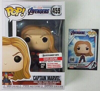 #459 // 36675 - B Compatible PET Plastic Graphical Protector Bundle Captain Marvel: Avengers Marvel Vinyl Figure /& 1 POP Endgame x Funko POP