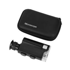 Magnifying Glass Magnifier 200x-240x UV Light Pocket LED Jewelers Jewelry Loupe