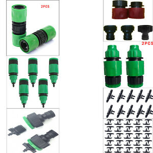 Image is loading Garden-Water-Irrigation-Hose-Pipe-Fittings-Tube-Connector-  sc 1 st  eBay & Garden Water Irrigation Hose Pipe Fittings Tube Connector Tap ...