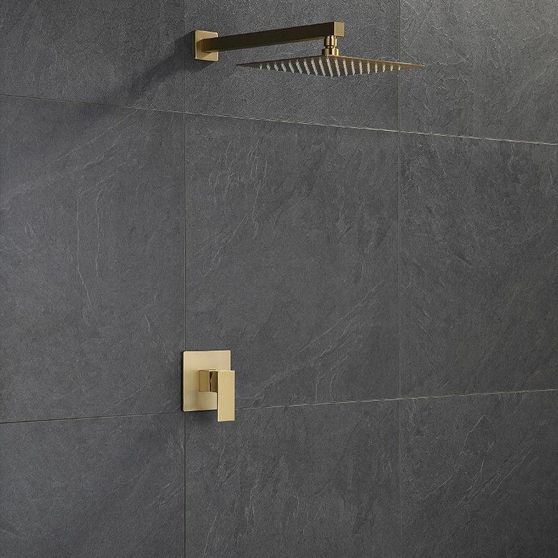 Latón oro Cepillado de Lujo Baño Ducha Conjunto 10  sus Válvula de cabeza de ducha de lluvia