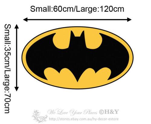 Personalized Name Batman Logo Wall Stickers Kids Boy Nursery Decor Decal Mural