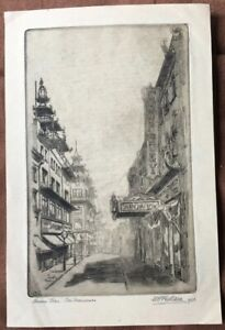 SIGNED-1925-San-Francisco-CHINATOWN-William-Charles-Frederic-Gillam-ETCHING