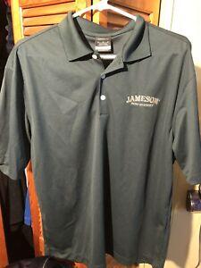 Jameson Irish Whiskey Men's Gold Polo Medium Nike New Shirt! Jameson Branded!