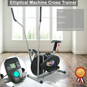 Elliptical Exercise Fitness Trainer Workout Machine Gym Indoor Cardio Equipment