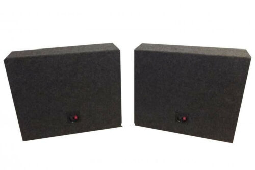 """12/"""" MDF Sealed R//T Truck Boxes or Universal Speaker Boxes Pair"""