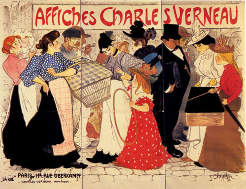 Vintage AFFICHES CHARLES VERNEAU Paper or Canvas Giclee Poster 13X18 to 52X40
