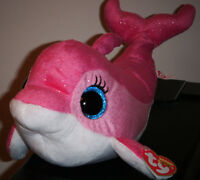 TY Beanie Boos - SURF the Pink Dolphin Medium Buddy Size - 9 inch -MWMT's New Toys