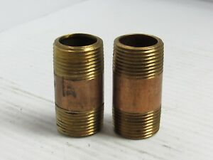 Details about NEW LOT OF 2 NO NAME BRASS PIPE NIPPLE 3/4