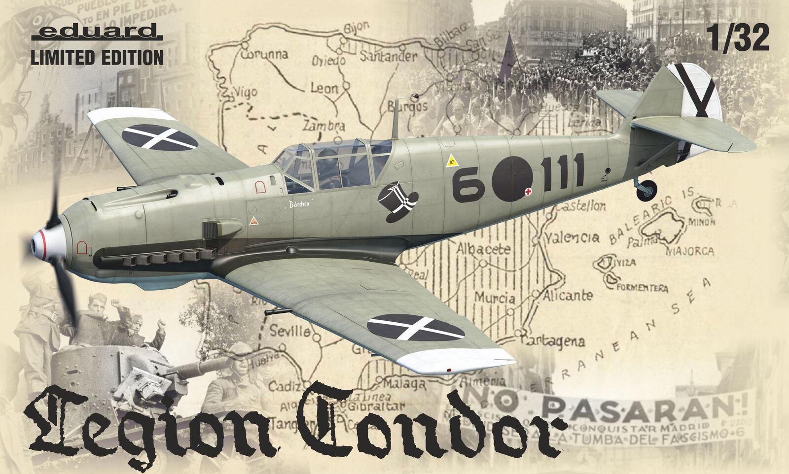 Eduard 1 32 Messerschmitt Bf-109E Legion Condor Edizione Limitata  K11105