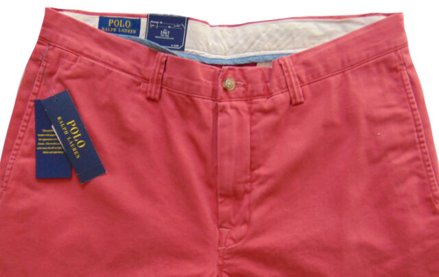 658822677958 Men s POLO RALPH LAUREN Muted Red Cotton Pants 38x32 NWT Bedford Classic Fit