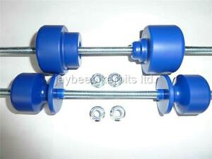 SUZUKI DRZ 400 SUPERMOTO CRASH MUSHROOMS PADDOCK STAND BOBBIN REAR AXLE BLUE S6F