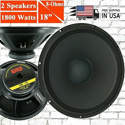 "4x EMB SB-12 1200W 12/"" 8-Ohm Replacement Speaker for JBL,Yamaha,Cerwin,Peavey..."