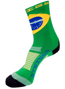 Steigen Fluro Yellow Quarter Length Performance Running and Cycling Sock