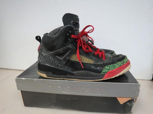 Nike Air Jordan Spizike Black Varsity/Red/Green 315371-061 SIZE 10.5 D959K
