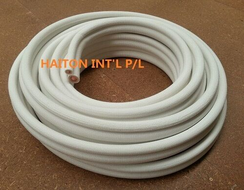 """Air conditioner parts Insulated pair coil copper 1//4/"""" x 3//8/"""" 5M roll,R410A"""